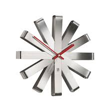<b>Часы настенные Ribbon</b>, <b>стальные</b>, фирмы «Umbra» | P7009.10