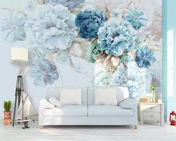 custom wallpaper nordic hand painted small fresh tropical plants flowers and birds background decorative waterproof material