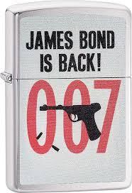 <b>Зажигалка ZIPPO James Bond</b> Brushed Chrome