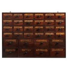 a fine small nest of thirty two apothecary drawers from a unique collection of antique apothecary furniture collection