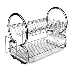 Home Kitchen 2 Tier Dish Rack Space Saver Dish Drainer Drying ...
