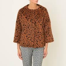 <b>Пальто короткое</b> с рисунком оранжевый Niu | <b>La Redoute</b>