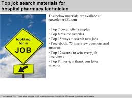 6 top job search materials for hospital pharmacy technician pharmacy technician cover letter