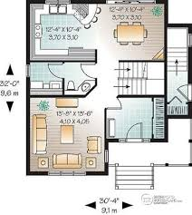 Multi family plan W B detail from DrummondHousePlans com    st level bedroom farmhouse house plan   one bedroom bedroom basement appartment  low
