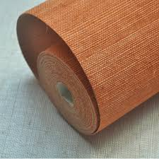 <b>2019 New Color</b> Orange <b>Natural</b> Sisal Grasscloth Wallpaper Design ...