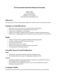 environmental science resume examples resume examples  environmental science resume examples