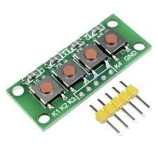 <b>3pcs 1x4 4</b> keys button 5 pin keypad keyboard module mcu board ...