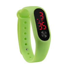 Casual Sports Bracelet Watches Digital <b>Candy Color Silicone</b> Wrist ...
