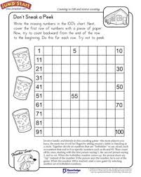 Don't Sneak a Peek View – Math Worksheet on Counting and Reverse ...Don't Sneak a Peek