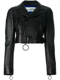 <b>CALVIN KLEIN 205W39NYC</b> Cropped leather biker <b>jacket</b> (158.065 ...