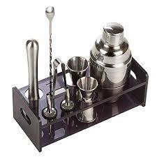 ZJFSX <b>9 Piece</b> Premium <b>Bar</b> Tool Kit, Professional Bartender ...