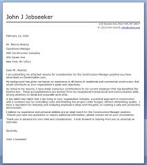 construction manager cover letter sample construction manager cover letter