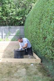 patio steps pea size x: pea gravel patio digging the border