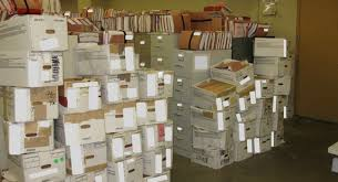 veterans affairs backlog files stacked so high they posed safety risk to staff boxes stack office file