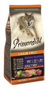 <b>Сухие корма</b> для собак <b>Primordial</b>