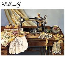 2019 <b>FULLCANG 5d Diamond Embroidery</b> Sewing Machine Diy Full ...
