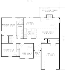 Economical Ranch Style House Plans  Weatherby Ranch Style Home    Weatherby Ranch Style Home Plan D House Plans And More