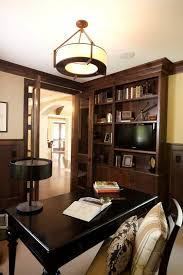 home office the dark cabinets and the contemporary light fixture ceiling lighting fixtures home office