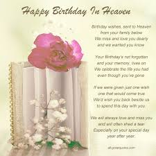 happy birthday wishes sent to heaven | Free Birthday Cards For ... via Relatably.com