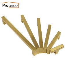 Probrico Golden <b>Drawer</b> Dresser Closet <b>Pulls</b> Furniture Kitchen ...