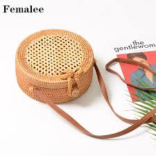 FEMALEE INS Popular 2018 <b>hot sale</b> Vietnam Circular Hand <b>Woven</b> ...