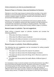 calaméo research paper on pollution ideas and guidelines for calaméo research paper on pollution ideas and guidelines for students