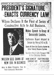 「1933, roosevelt, the United States goes off the gold standard monetary system in which US currency is backed by gold.」の画像検索結果