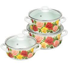 <b>Набор эмалированной посуды</b> КМК Розовый рай-ЭКСТРА ...