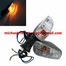 <b>2 PCS/Lot Clear</b> Appearance Motorcycle Turn Signal Light Winker ...
