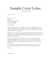 child care cover letter template sample cover letter for child care worker