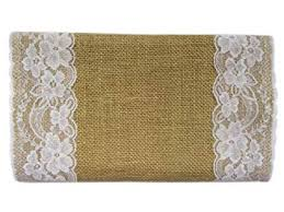 YYCRAFT 6 Yards 12 Inch Jute Burlap with Lace ... - Amazon.com