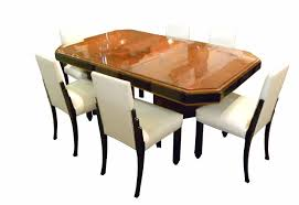oval dining table art deco: french art deco dining suite exotic wood