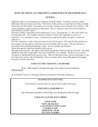 Examples of lab reports for microbiology unknown   www yarkaya com Examples of lab reports for microbiology unknown