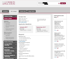 a user s guide to the common application our sample student s page now shows admissions information for boston college again your own my colleges page will not show any colleges until you add