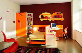 themed kids room designs cool yellow:  orange study room design ideas for kids