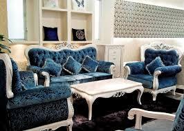 italian blue fabric sofa sets living room antique looking furniture cheap
