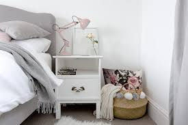 grey and white bedroom with blush and warm metallic accents bedroom grey white bedroom