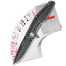 Складной <b>полуавтоматический</b> нож и игральные карты Kershaw ...