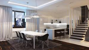 excellent apartment kitchen and dining room design ideas with cool pendant lamp above white rectangle table bathroom lighting ideas modern hanging kitchen