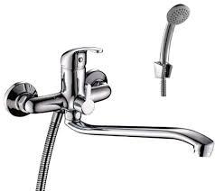 <b>Смеситель Rossinka</b> Silvermix, для ванны, с S-образным изливом ...