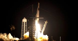 'One heck of a ride': SpaceX launches <b>astronauts</b> into <b>space</b> | US ...