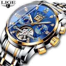 <b>New LIGE</b> Men Watches Male Top Brand Luxury <b>Automatic</b> ...