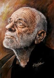 نتیجه تصویری برای عکس نقاشی از پیرمرد مریض