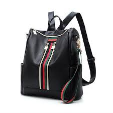 <b>Women Large Capacity Backpack</b> Color Block Casual Trendy Bag ...