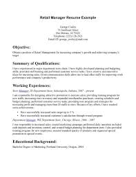 skills summary examples for resume  seangarrette coretail manager resume example retail manager resume example cashier resume skills  resume summary examples