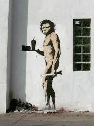 <b>Banksy Fast Food Caveman</b> | Beverly Blvd. | Dave & Anna Douglass ...