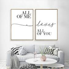 Black And White <b>Love</b> Quote Posters <b>Minimalist Canvas</b> Painting ...