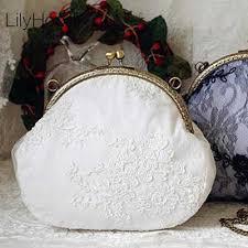 <b>Women</b> Velvet Small Shouder Bag Frame <b>Vintage Retro</b> Chic Clasp ...