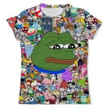 """Мужские <b>футболки</b> c необычными принтами """"pepe frog"""" - <b>Printio</b>"""
