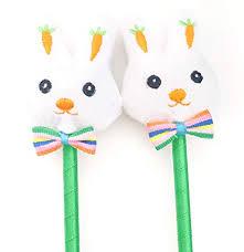 Bunny Pens Easter Party Favors, White Rabbit Plush ... - Amazon.com